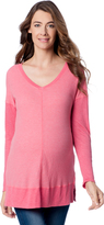 A Pea in the Pod Splendid Long Sleeve V Neck Maternity Top