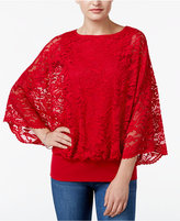 JM Collection Lace Dolman-Sleeve Top, Only at Macy's