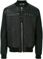 Philipp Plein textured bomber jacket