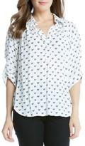 Karen Kane Women's Heart Print Shirt