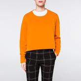Paul Smith Women's Orange Organic Cotton Cropped Sweatshirt