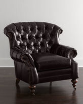 Old Hickory Tannery Liberty Creek Collection Leather Bergere Chair