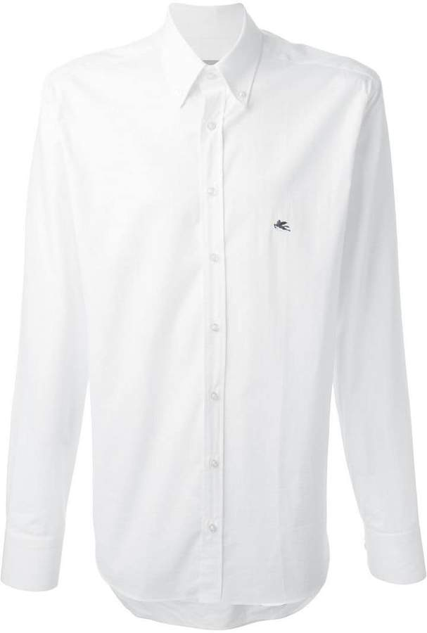 Etro button down collar printed shirt