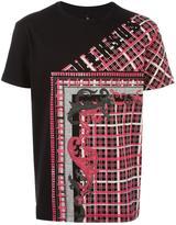 Versus stylised check print T-shirt - men - Cotton - M