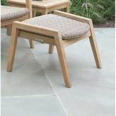 Kingsley Spencer Outdoor Teak Ottoman Bate Frame Color: Gray Wash, Seat Color: Sea Salt