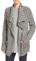 Eileen Fisher Women's Organic Cotton & Alpaca Drape Front Cardigan