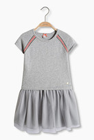 Esprit Knit dress with shiny stripes + net skirt