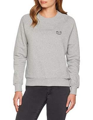 H.I.S Women's Sweatshirt, Light Grey Melange 8019, Medium