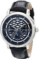 Adee Kaye Men's AK2242-M/BK Successo Analog Display Automatic Self Wind Black Watch