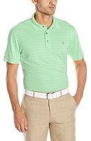 Izod Men's Short Sleeve Pieced Jacquard Golf Polo