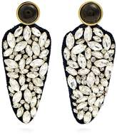 Lizzie Fortunato Crystal Dagger embellished earrings