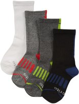 Stride Rite 4 pack Aaron Athletic Crew Socks - Black-7-10 Years