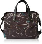 Paul Smith Black Canvas Bike Print Messenger Bag