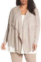 Eileen Fisher Plus Size Women's Lightweight Linen Draped Cardigan