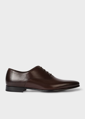 Paul Smith Men's Dark Brown Calf Leather 'Fleming' Oxford Shoes