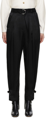 3.1 Phillip Lim Black Satin Track Trousers