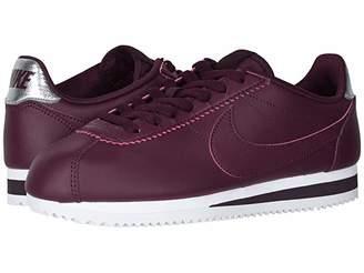Nike Classic Cortez Leather (Night Maroon/Night Maroon/Burgundy Ash) Women's Shoes