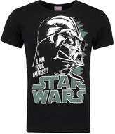 Logoshirt Star Wars Darth Vader Print Tshirt Black
