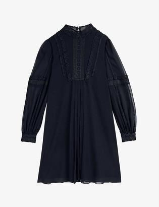 Ted Baker Georrgi lace-detail crepe mini dress