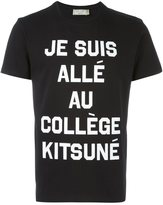 MAISON KITSUNÉ quote print T-shirt