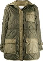 Ganni diamond quilted jacket
