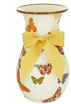 Mackenzie Childs Butterfly Garden Tall Vase