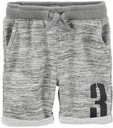 Osh Kosh Boys 4-12 Heathered French Terry Roll Cuff Shorts