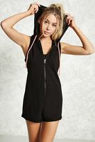 Forever 21 FOREVER 21+ Active Hooded Romper
