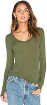 Michael Lauren Otis V Neck Tee in Army. - size L (also in )