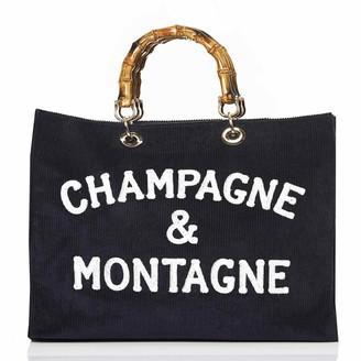 MC2 Saint Barth Blue Velvet Bag Champagne & Montagne