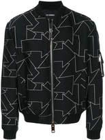 Les Hommes puffy bomber jacket