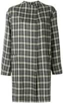 Antonio Marras collarless plaid coat