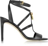 Michael Kors Antoinette Black Leather High Heel Sandals