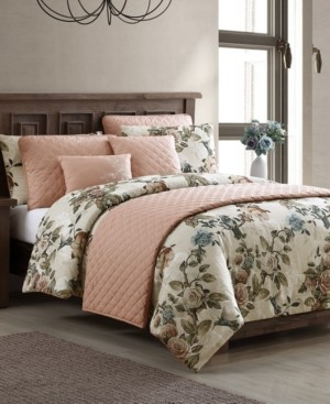 Hallmart Collectibles Lillith 8-Pc. California King Comforter and Quilt Set Bedding