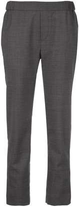 Nili Lotan Chequered Weave Trousers