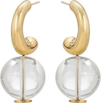 Modern Weaving C-Curve Hoop Earrings