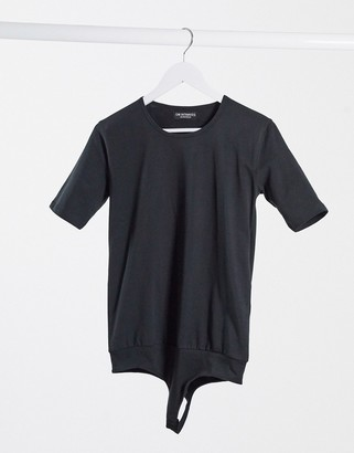 OW Intimates YVI organic cotton t-shirt bodysuit in black