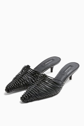 Topshop JUMP Black Strappy Point Shoes