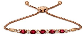 Bloomingdale's Ruby and Diamond Bolo Bracelet in 14K Rose Gold - 100% Exclusive