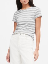 Banana Republic Slub Cotton-Modal Stripe T-Shirt