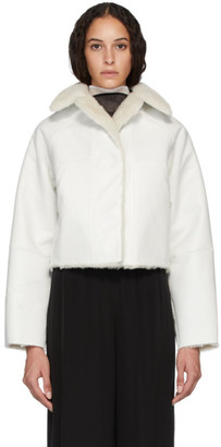 Kassl Editions Reversible White Sheepskin Coat