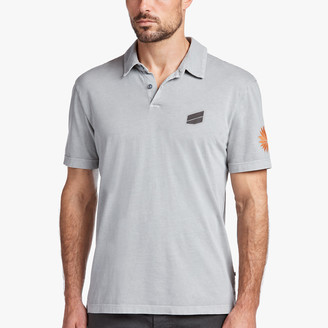 James Perse Sueded Jersey Bar Graphic Polo