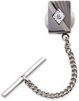 Asstd National Brand Art Deco Tie Tack with Diamond Accent