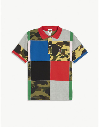 A Bathing Ape Patchwork cotton polo shirt 4-10 years