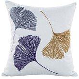 Vibola Ginkgo leaves Spandex Pillow Sofa Waist Throw Cushion Cover Home Decor Cushion Cover Case (C)