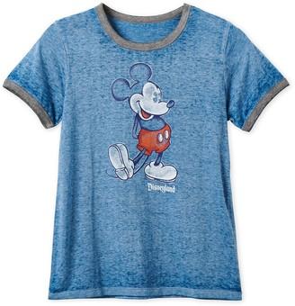 Disney Mickey Mouse Heathered Ringer T-Shirt for Women Disneyland Navy