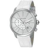 Pierre Cardin pc105431f11 Stainless Steel Case White Calfskin Mineral Men's & Women's Watch