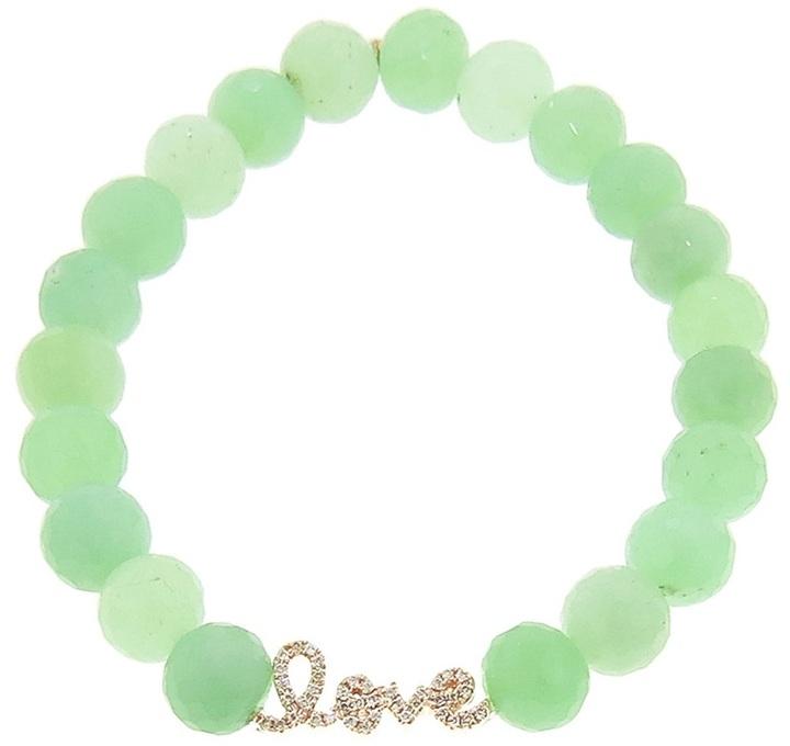 Sydney Evan diamond love script bracelet