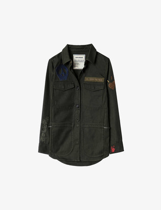 Zadig & Voltaire Tackl Militaire cotton army jacket