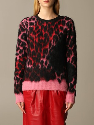 N°21 N 21 Sweater Mixed Animalier Mohair Crewneck